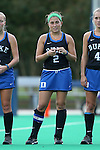 30 September 2016: Duke's Sarah Furey. The Duke University Blue Devils hosted the Boston College Eagles at Jack Katz Stadium in Durham, North Carolina in a 2016 NCAA Division I Field Hockey match. Duke won the game 6-2.