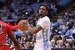 07 November 2014: North Carolina's Joel Berry II. The University of North Carolina Tar Heels played the Belmont Abbey College Crusaders in an NCAA Division I Men's basketball exhibition game at the Dean E. Smith Center in Chapel Hill, North Carolina. UNC won the game 112-34.