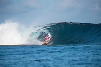 Namotu Island Resort, Nadi, Fiji (Monday, May 30 2016): Sage Erickson (USA) - The  2016 Fiji Women's Pro commenced at 9 am this morning in clean 3'-4' building swell at Cloudbreak. Rounds 2,3and 4  was completed as the swell built through the afternoon. There were strong Trade winds in the afternoon as well making the waves a bit choppy. Photo: joliphotos.com