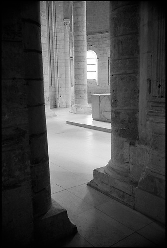 Columns, Fontevraud Abbey, Chinon, France by Paul Cooklin