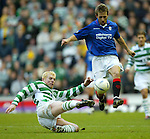 Neil Lennon and Neil McCann in combat December 2002