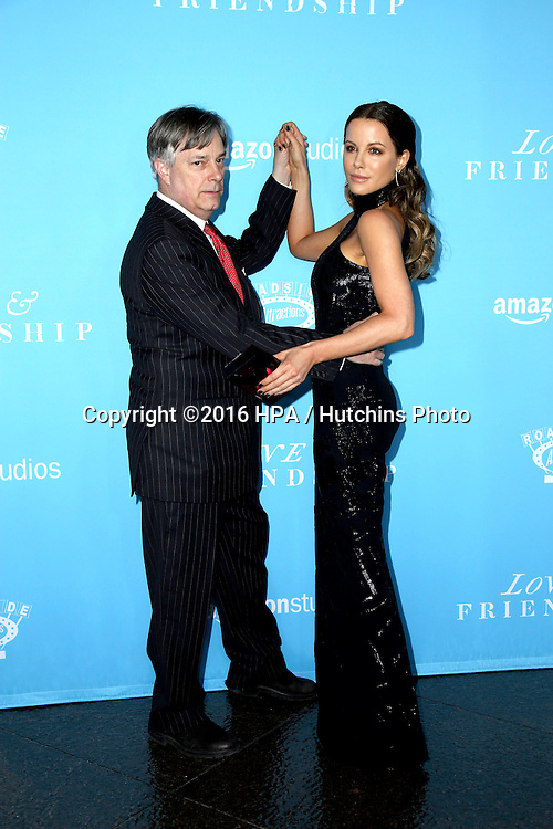 LOS ANGELES - MAY 3:  Whit Stillman, Kate Beckinsale at the Love & Friendship LA Premiere at the DGA Theater on May 3, 2016 in Los Angeles, CA