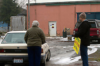 Robert Pregulman, founder of the website Seattle Dog Spot, protests in front of the Olympic Animal Sanctuary with another protester in Forks, WA on December 10, 2013.  &ldquo;I was out here 4.5 hours yesterday and not one dog was taken outside.&rdquo;<br /> <br /> <br /> &ldquo;The barking is sometimes, you don&rsquo;t hear it.  But once one dog barks they all go off.  I timed it yesterday.  It was about 3 hours of almost nonstop barking.  Which, if there was people in there you would say its an insane asylum. If people were yelling and screaming for that long.  These dogs are in cages and crates and they sit there all day.  Its awful. &rdquo;<br /> <br /> &ldquo;It makes me sick.   I went home last night and I was horribly depressed because its just awful to listen to these poor dogs in there.  There&rsquo;s a dog in that window that jumps up and howls.  I guess he&rsquo;s locked in a room, I don&rsquo;t know.  For anybody with an ounce of humanity how can you just sit here and listen to it and not be affected.  I just don&rsquo;t understand.&rdquo;<br /> <br /> &ldquo;It just is incredibly disturbing and you think about your own dogs and I just don&rsquo;t understand why this place is still allowed to be open because it just makes no sense to me.&rdquo;<br /> <br />  Owner Steve Markwell Markwell has been under fire for neglecting the dogs after volunteers filed a complaint in 2012. The City of Forks police department investigated and found horrific conditions but said legally they were unable to do anything about it. Markwell claims he has 125 dogs inside and believes he is their last hope.  Many of the dogs were turned over to him by rescues and shelters who deemed them dangerous. Mounting evidence of animal cruelty has prompted many of them to ask for their dogs back.  Markwell refuses and only lets a few trusted volunteers enter the premises.