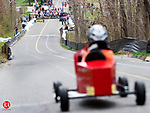 BETHLEHEM, CT- 29 APRIL 07- 042907JT08-<br /> Aiden Leonard prepares to race in the 2nd annual Cub Scout Pack 459 Downhill Derby on Hard Hill Road North in Bethlehem on Sunday.<br /> Josalee Thrift Republican-American