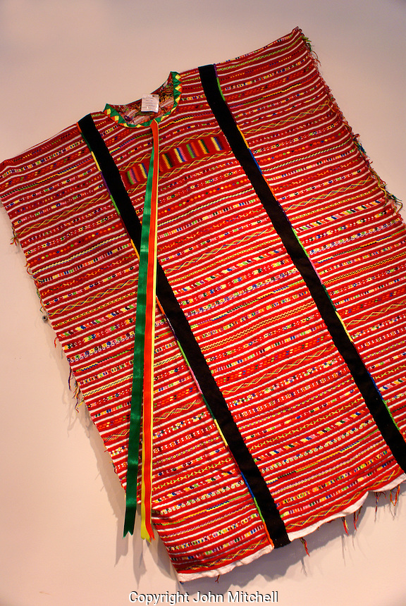 Traditional embroidered huipil from the state of Oaxaca, Mexico
