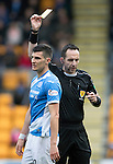 St Johnstone v Partick Thistle&hellip;29.10.16..  McDiarmid Park   SPFL<br />Graham Cummins is booked by referee Barry Cook<br />Picture by Graeme Hart.<br />Copyright Perthshire Picture Agency<br />Tel: 01738 623350  Mobile: 07990 594431