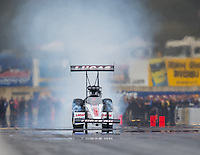 Oct 2, 2016; Mohnton, PA, USA; NHRA top fuel driver Richie Crampton during the Dodge Nationals at Maple Grove Raceway. Mandatory Credit: Mark J. Rebilas-USA TODAY Sports