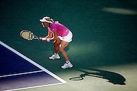 16 March 2007: Sybille Bammer (AUT) in pink is defeated by Svetlana Kuznetsova (RUS) during a very long three set match on the main court at the 2007 Pacific Life Open Tennis Tournament in Indian Wells, CA.