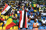 An Egypt supporter cheers for his team ahead of the 2017 Africa Cup of Nations group D football match between Mali and Egypt in Port-Gentil on January 17, 2017. Photo by Stranger