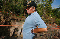 PORT CHARLOTTE, FL -- March 12, 2008 -- Charlie Shaughnessy visits the site where he tunneled 50 yards into a drainage pipe to find the body of former Marine Eric Hall in Port Charlotte, Fla., on Wednesday, March 12, 2008.   Hall went missing on Feb. 3 after having a flashback to his time in Iraq, and was found dead weeks later by Vietnam veteran volunteers in a culvert.  He says the experience was eerily reminiscent of his time served in the Vietnam War.