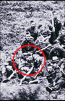 BNPS.co.uk (01202 558833)<br /> Pic: DixNoonanWebb/BNPS<br /> <br /> Private Minehan (circled) in a group photo of survivors of 'B' Company, 2/24th Regiment who fought at Rorkes Drift.<br /> <br /> A medal awarded to a British hero of Rorke's Drift, the epic battle immortalised in the film Zulu, has emerged fro sale.<br /> <br /> Private Michael Minehan was one of the 150 British soldiers who defended the Rorke's Drift mission station from 4,000 Zulu warriors in 1879.<br /> <br /> The incredible action resulted in 11 Victoria Crosses being awarded and was made famous by the 1964 movie starring Michael Caine.<br /> <br /> Pte Minehan was in the front line of 'B' Company and fought off the marauding Zulus, first by shooting at them and then using close hand-to-hand combat involving bayonets and spears.<br /> <br /> His medal, which is being sold by Dix Noonan Webb is expected to fetch &pound;30,000 on December 8 (Thurs).