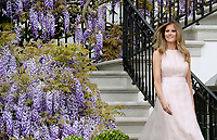 First Lady Melania Trump attends the annual Easter Egg roll on the South Lawn of the White House in Washington, DC, on April 17, 2017. <br /> CAP/MPI/CNP/RS<br /> &copy;RS/CNP/MPI/Capital Pictures