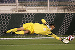 16 November 2007: Virginia Tech's Markus Aigner lays out to make a save. Boston College defeated Virginia Tech 3-1 at SAS Stadium in Cary, NC in an Atlantic Coast Conference Men's Soccer tournament semifinal.