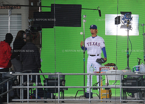 Yu Darvish (Rangers),.FEBRUARY 28, 2012 - MLB : Pitcher Yu Darvish of the Texas Rangers poses for a photo day session at baseball spring training camp in Surprise, Arizona, United States..(Photo by AFLO)