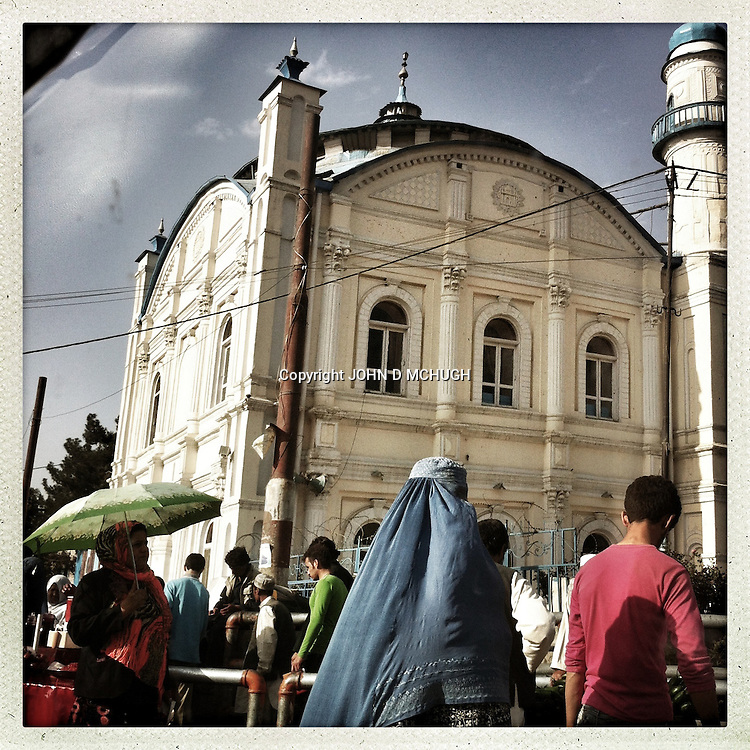 ** TO GO WITH AFGHANISTAN STORY FOR PETER MURTAGH - NO ARCHIVE, NO RESALE ** The Shah-e Doh Shamshira mosque, which looks more like an Italian church than an Islamic place of worship, is seen in Kabul, 28 August 2012. (John D McHugh).