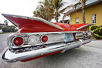 Red Chevrolet Impala convertible automobile, Anna Maria Island, Florida sunshine state, United States of America