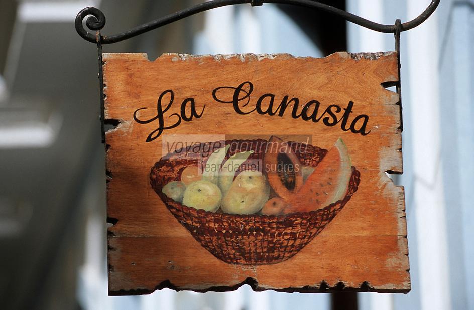 Cuba/La Havane: Enseigne d'un marchand de jus de fruits