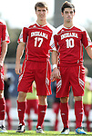 27 November 2011: Indiana's Jacob Bushue (17) and A.J. Corrado (10). The University of North Carolina Tar Heels defeated the Indiana University Hoosiers 1-0 in overtime at Fetzer Field in Chapel Hill, North Carolina in an NCAA Men's Soccer Tournament third round game.