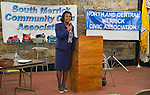 Oct. 23, 2012 - Merrick, New York, U.S. - Judge VALERIE ALEXANDER, running for re-election to District Court, spoke at the 4th Annual Meet the Candidate Night held by Merrick civic associations. After each candidate for Congress, New York State Senate, Assembly, and courts spoke to the audience, community members could ask additional questions in the lobby.