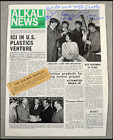 Newspaper with forged Beatles autographs.