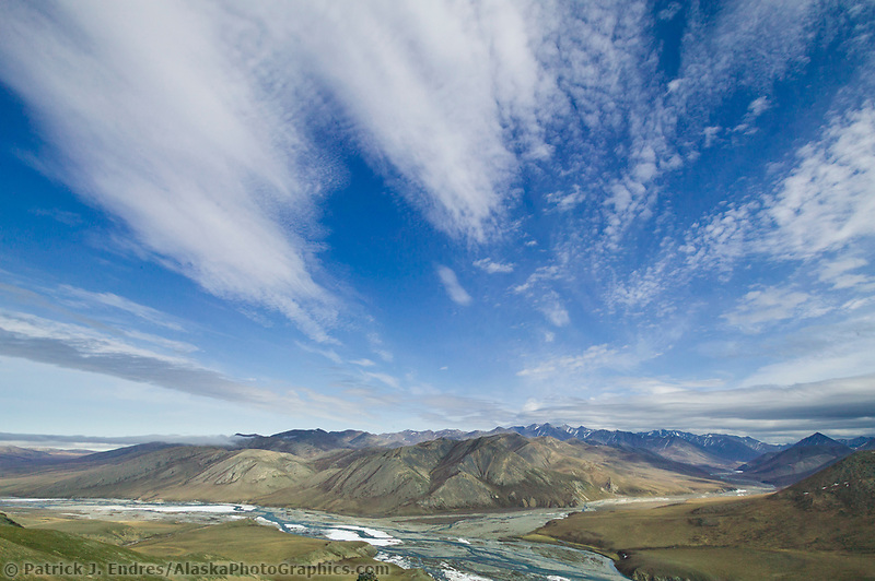 Kongakut river drainage, confluence of Pagenak Creek, Brooks range mountains, Arctic National Wildlife Refuge, Alaska