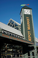 Depot Market building where weekly Farmers Market is held, Bellingham, Washington state, USA