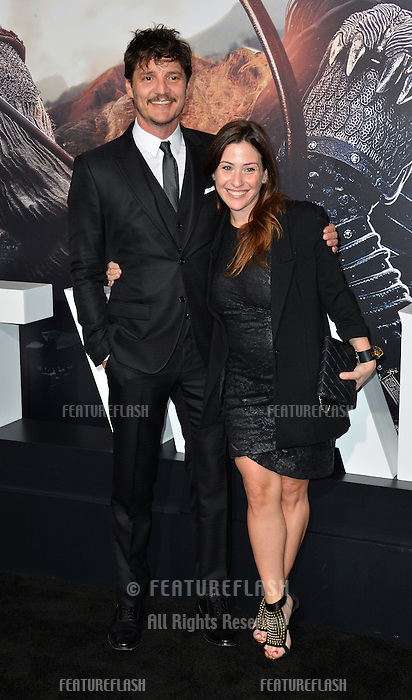 Pedro Pascal &amp; Guest at the premiere for &quot;The Great Wall&quot; at the TCL Chinese Theatre, Hollywood, Los Angeles, USA 15 February  2017<br /> Picture: Paul Smith/Featureflash/SilverHub 0208 004 5359 sales@silverhubmedia.com