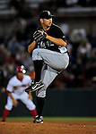 18 March 2009: Florida Marlins' pitcher Josh Johnson on the mound during a Spring Training game against the Washington Nationals at Space Coast Stadium in Viera, Florida. The Marlins defeated the Nationals 7-5 in the Grapefruit League matchup. Mandatory Photo Credit: Ed Wolfstein Photo