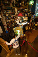 """The museum contains a recreation of Miyazaki's """"ideal workspace"""" and is filled with objects that belong to the animator. The Ghibli Museum in Mitaka, western Tokyo opened in 2001. It was designed by animator Miyazaki Hayao and receives around 650,500 visitors each year."""
