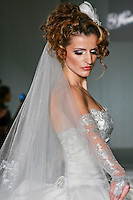 Model walks the runway in a by Katerina Bocci during the Wedding Trendspot Spring 2011 Press Fashion, October 17, 2010.