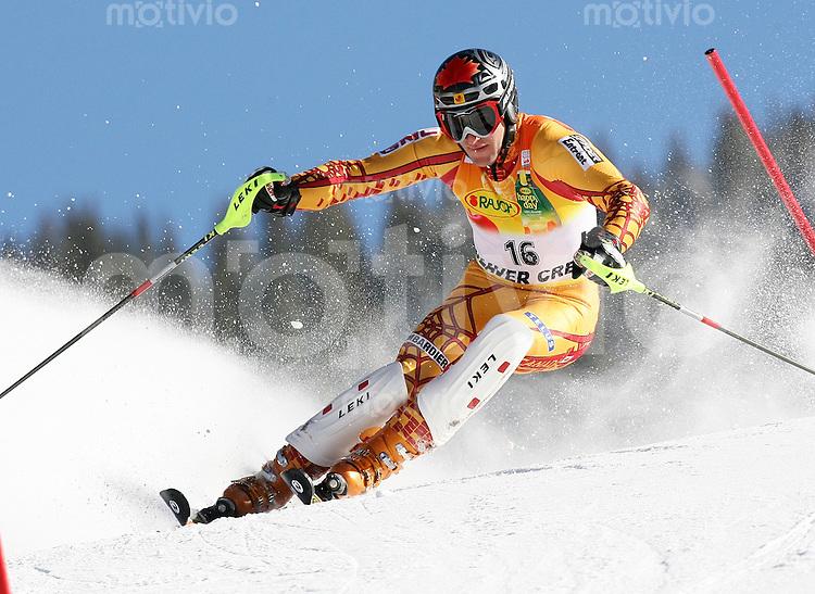 Ski Alpin; Saison 2006/2007  Slalom Herren Michael Janyk (CAN) belegt Platz 2.