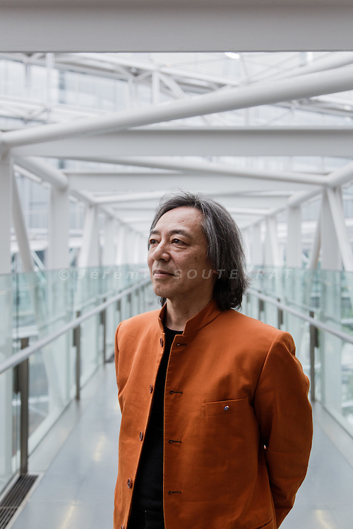 """Tokyo, May 9 2014 - Portrait of Japanese music producer Masahide KAJIMOTO at the International Forum, main venue for the """"Folle journee"""" in Japan"""