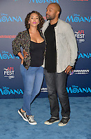 "HOLLYWOOD, CA - NOVEMBER 14: Gloria Govan and Derek Fisher attend the AFI FEST 2016 Presented By Audi - Premiere Of Disney's ""Moana"" at the El Capitan Theatre in Hollywood, California on November 14, 2016. Credit: Koi Sojer/Snap'N U Photos/MediaPunch"