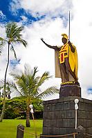 The original cast of the statue of King Kamehameha the Great, Kapa'au, Kohala, Big Island.
