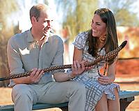 Kate, Duchess of Cambridge & Prince William visit Uluru Cultural Centre - Australia