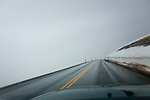 The highest pass on Trail Ridge Road in the Rocky Mountain National Park in August.