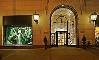 New York City, New York, Bergdorf Goodman Department, Christmas Window Display