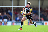 Ollie Devoto of Exeter Chiefs goes on the attack. Aviva Premiership match, between Exeter Chiefs and Saracens on September 11, 2016 at Sandy Park in Exeter, England. Photo by: Patrick Khachfe / JMP