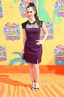 Vanessa Marano<br /> at Nickelodeon's 27th Annual Kids' Choice Awards, USC Galen Center, Los Angeles, CA 03-29-14<br /> David Edwards/DailyCeleb.Com 818-249-4998