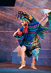 A Mexican dancer dances during the opening of the IV World Water Forum in Mexico City, March 16. 2006.  Over ten thousand representatives of 120 countries are attending the meeting to discuss water issues. Photo by Javier Rodriguez © Javier Rodriguez