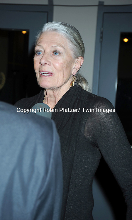 """Vanessa  Redgrave attending the premiere of"""" Miral"""" at The United Nations on March 14, 2011 in New York City. Julian Schnabel directed the movie which is from the book by his girlfriend Rula Jebreal."""