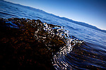 A wave breaks on Lake Tahoe, California.