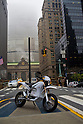 Zero Motorcycles S pictured in New York city, on April 23, 2009. (photo David Foch/Nippon News)