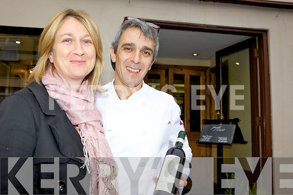 NUMBER 1: Antoinette and Daniele Giovanelli of Giovanelli's restaurant in Killorglin which has been listed at No. 1 on the popular Trip Advisor website.