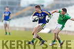 James O'Donoghue Kerry in action against Peter Nash Limerick in the Final of the McGrath Cup at the Gaelic Grounds on Sunday.