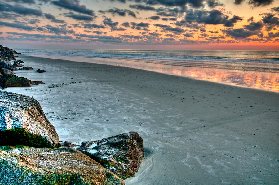 Sunset in the Beach in St, Augustine, Florida.