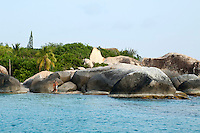 Big Trunk Bay from the water , Virgin Gorda