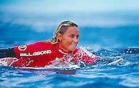 Lisa Andersen, 3rd Billabong Pro Teahupoo, Tahiti..photo:  joliphotos.com