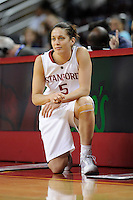 LOS ANGELES, CA - MARCH 13:  Michelle Harrison during Stanford's 64-44 win over California in the Pac-10 Tournament at the Staples Center on March 13, 2010 in Los Angeles, California.