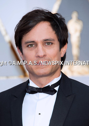 26.02.2017; Hollywood, USA: GAEL GARCIA BERNAL<br /> attend The 89th Annual Academy Awards at the Dolby&reg; Theatre in Hollywood.<br /> Mandatory Photo Credit: &copy;AMPAS/NEWSPIX INTERNATIONAL<br /> <br /> IMMEDIATE CONFIRMATION OF USAGE REQUIRED:<br /> Newspix International, 31 Chinnery Hill, Bishop's Stortford, ENGLAND CM23 3PS<br /> Tel:+441279 324672  ; Fax: +441279656877<br /> Mobile:  07775681153<br /> e-mail: info@newspixinternational.co.uk<br /> Usage Implies Acceptance of Our Terms &amp; Conditions<br /> Please refer to usage terms. All Fees Payable To Newspix International